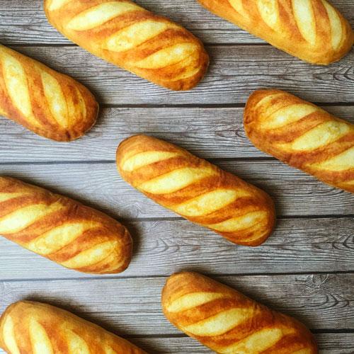 LINGO|絨毛仿真法國麵包 寵物玩具