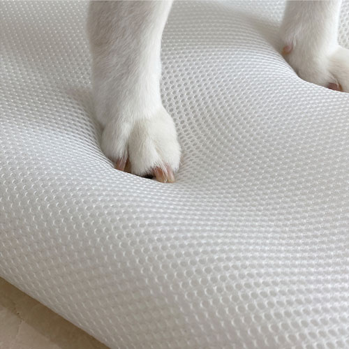 LINGO 3D透氣寵物睡墊 (柔和粉) L
