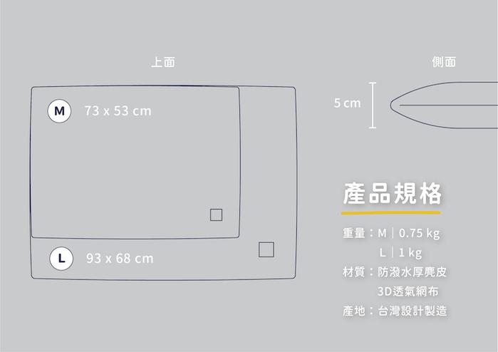 LINGO|3D透氣網布 寵物涼墊 (沉靜藍)