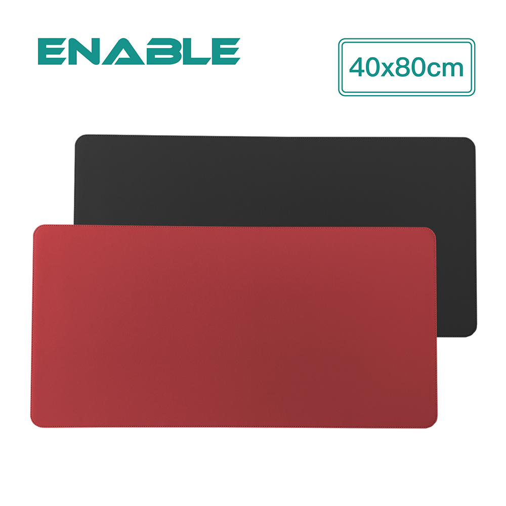 ENABLE|雙色皮革 大尺寸 辦公桌墊/滑鼠墊/餐墊 (40x80cm)