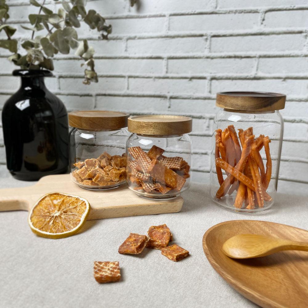 LINGO|木蓋玻璃密封罐 (350ml)