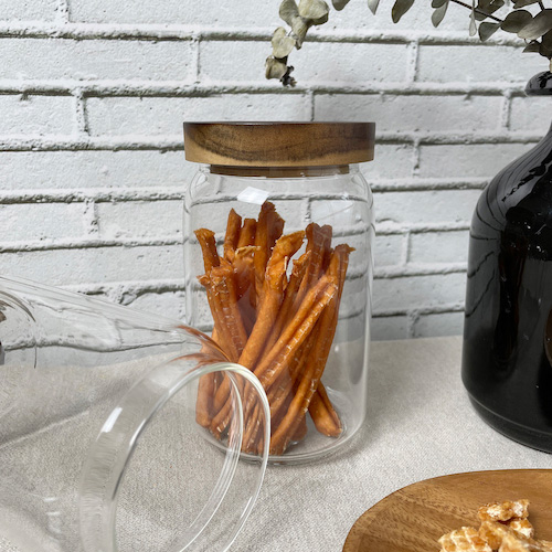 LINGO|木蓋玻璃密封罐 (650ml)