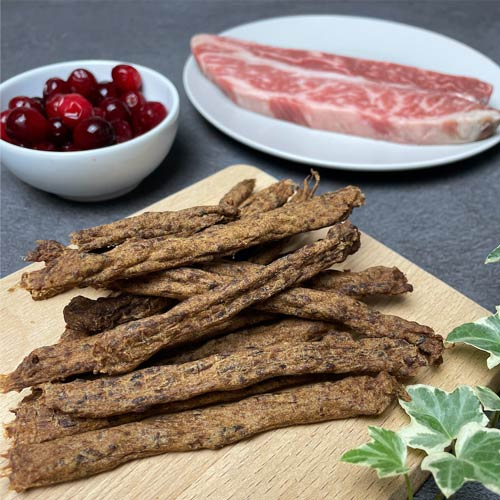 LINGO|蔓越莓牛肉條 天然手工寵物零食