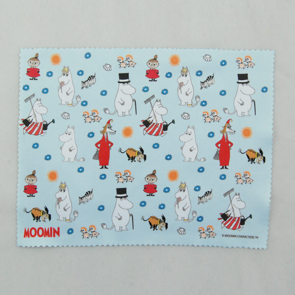 YOSHI850|Moomin嚕嚕米正版授權:超細纖維光學拭鏡布【歡樂Moomin】