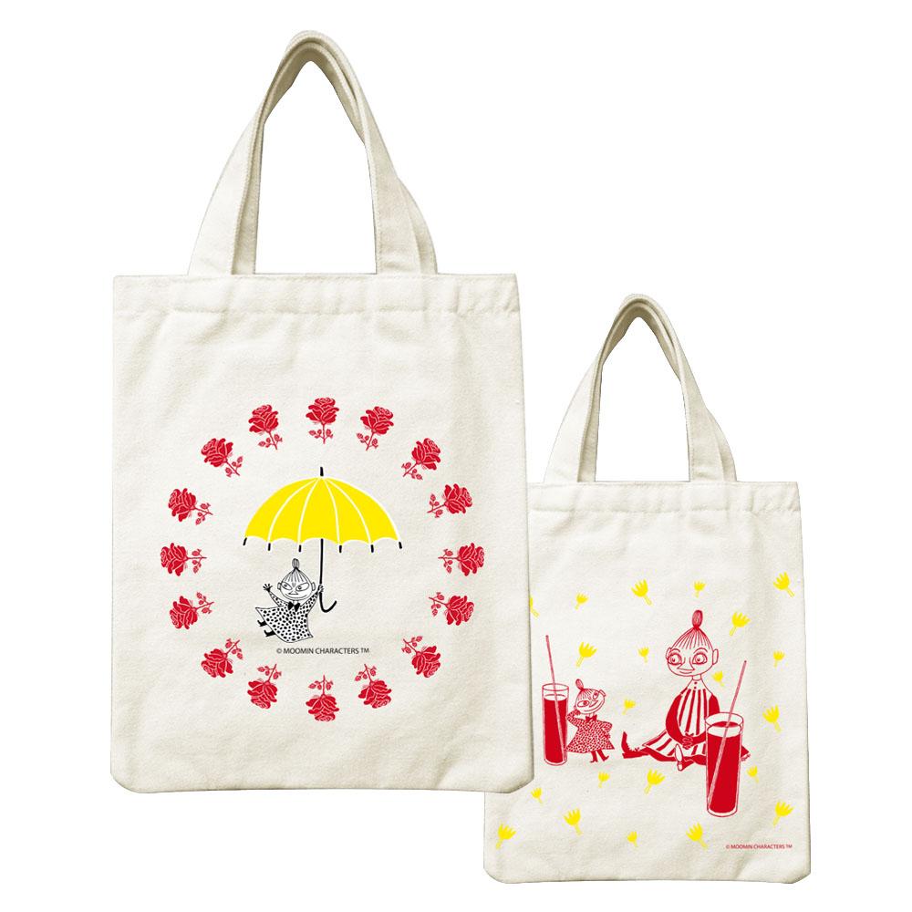 YOSHI850|Moomin嚕嚕米正版授權:小帆布包【美寶與小不點】