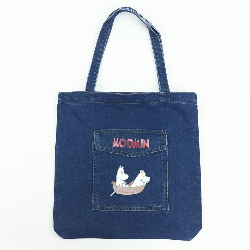 YOSHI850|嚕嚕米正版授權:牛仔購物包【深藍】