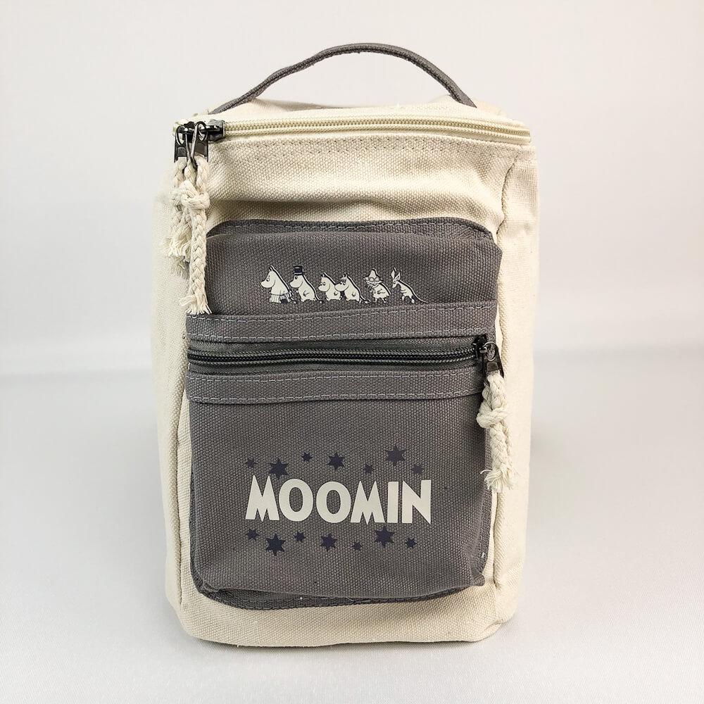 YOSHI850|嚕嚕米正版授權:方筒拼色後背包【灰】(親子包-小款)