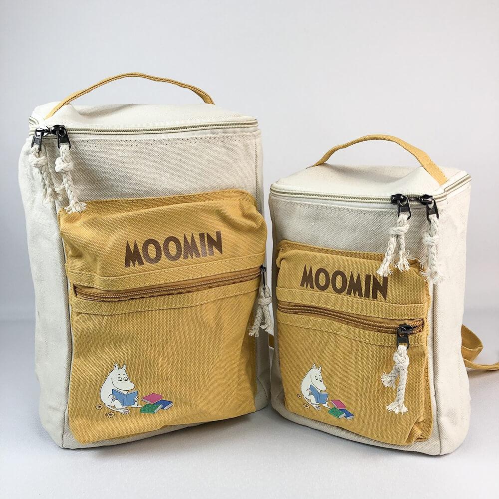 YOSHI850 嚕嚕米正版授權:方筒拼色後背包【黃】(親子包-小款)