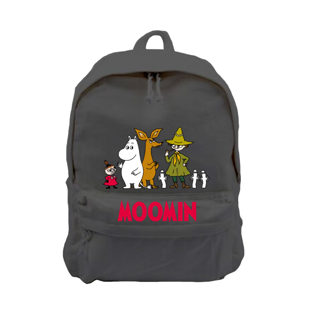 YOSHI850|Moomin嚕嚕米正版授權:新款拉鍊後背包系列01(黑) -CE16AE01