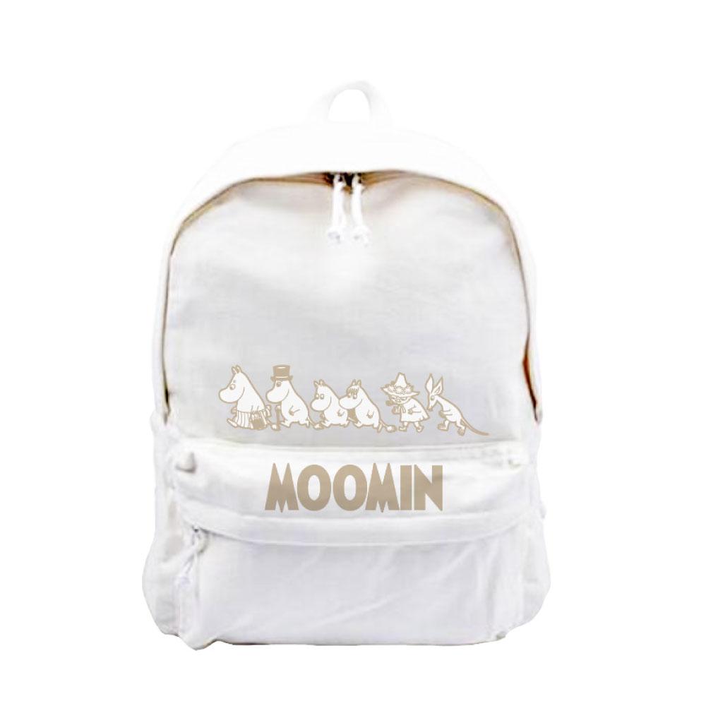 YOSHI850|Moomin嚕嚕米正版授權:新款拉鍊後背包系列03(白) -CE16AE03