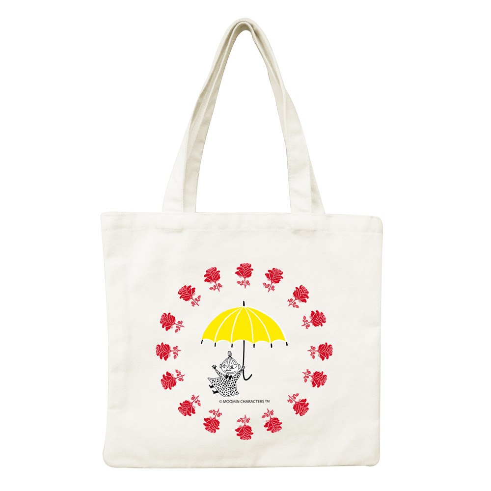 我適文創 MOOMIN嚕嚕米 手提帆布包 -美寶與小不點