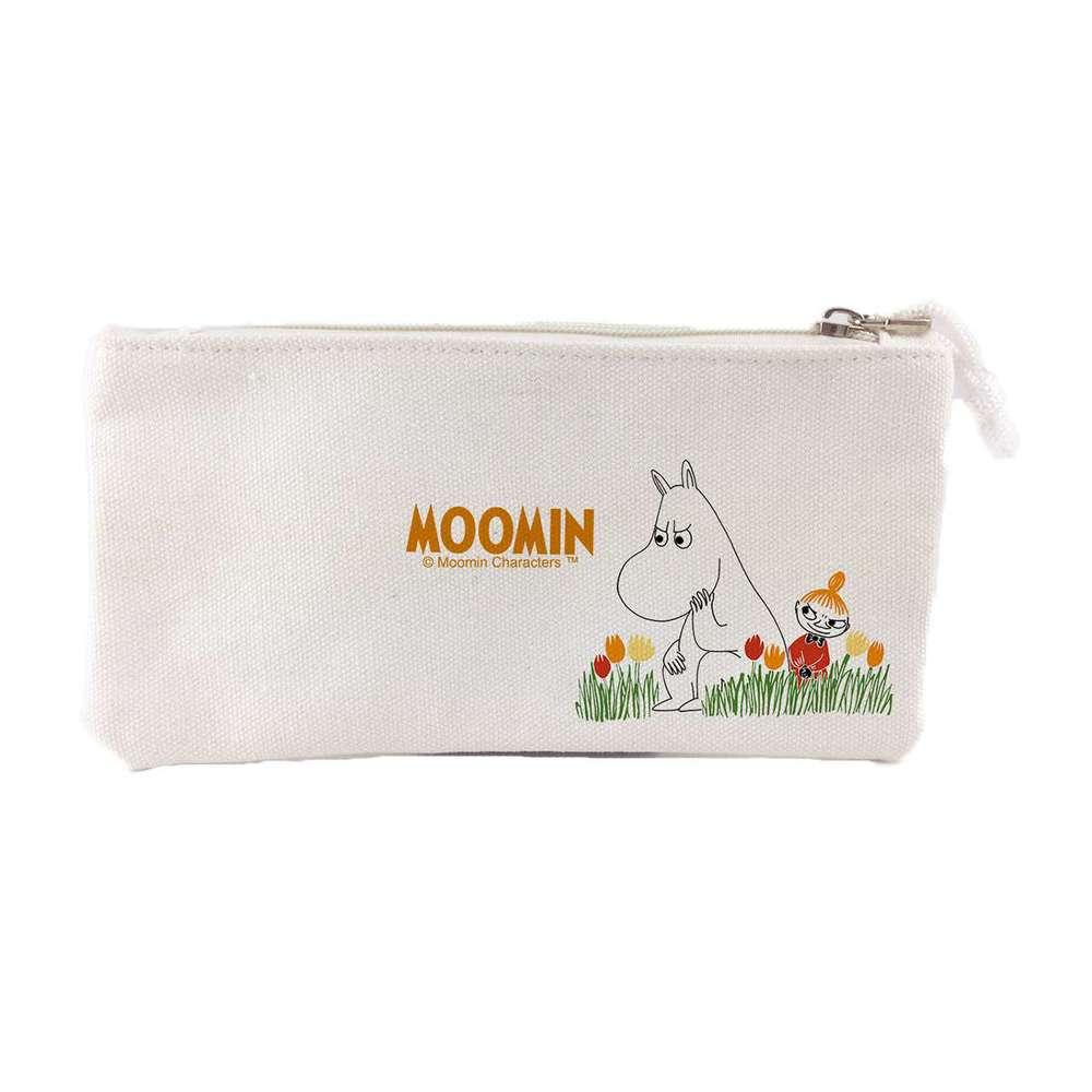 我適文創|MOOMIN嚕嚕米 筆袋 -米白/紅