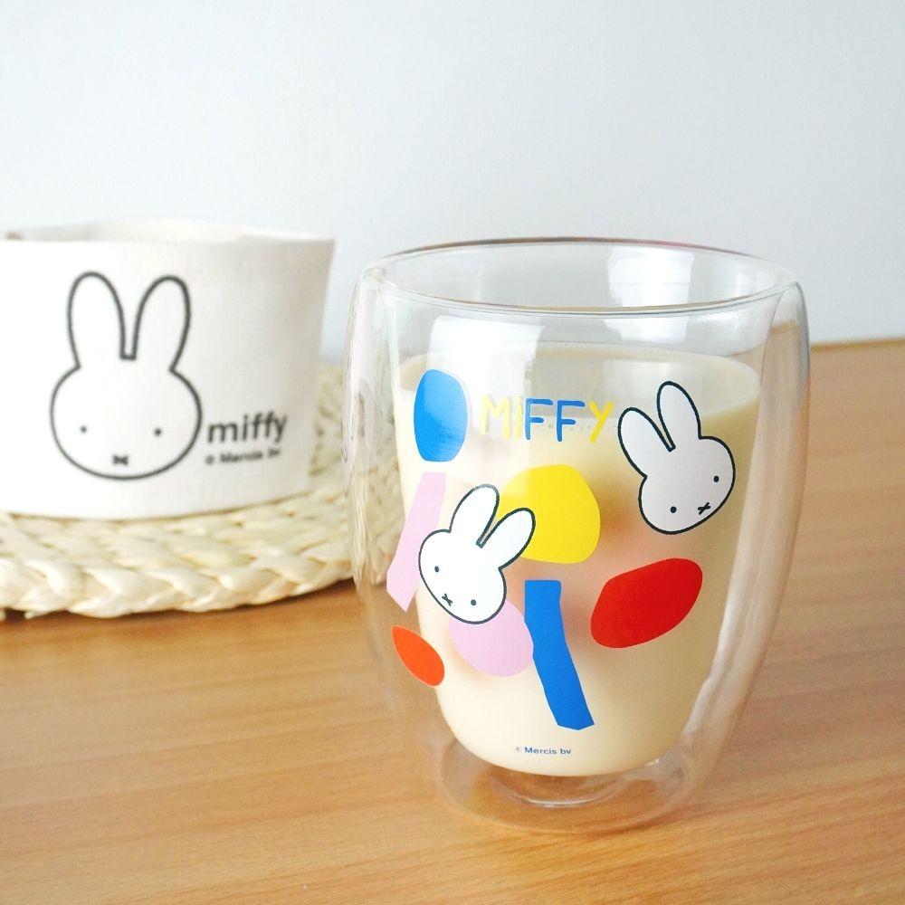 我適文創 MIFFY米飛兔 雙層玻璃杯