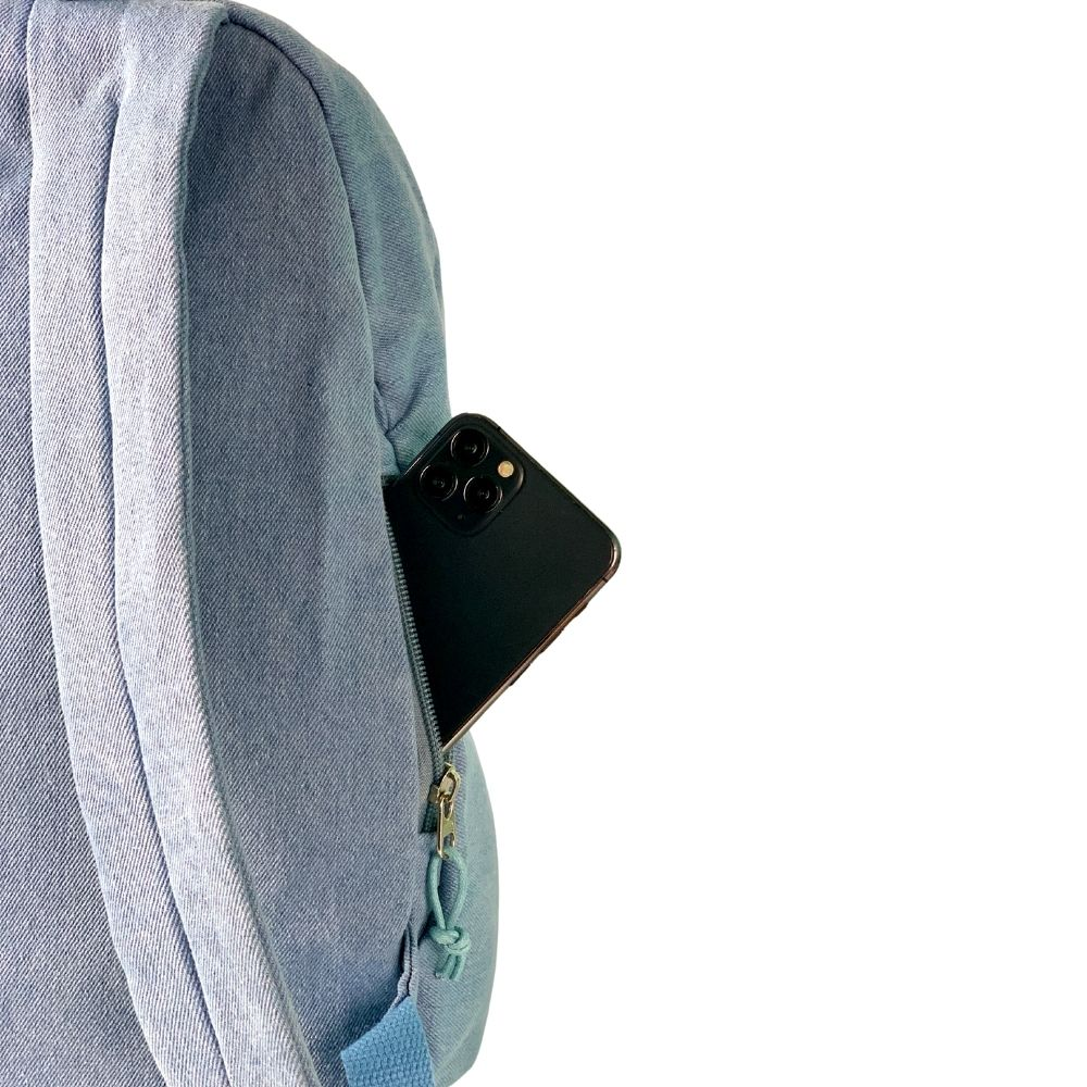 我適文創|MIFFY米飛兔 新款拉鍊後背包 -牛仔藍