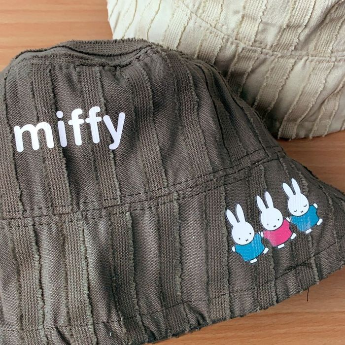 我適文創|MIFFY米飛兔 夏日防曬 日系漁夫帽 軍綠/米