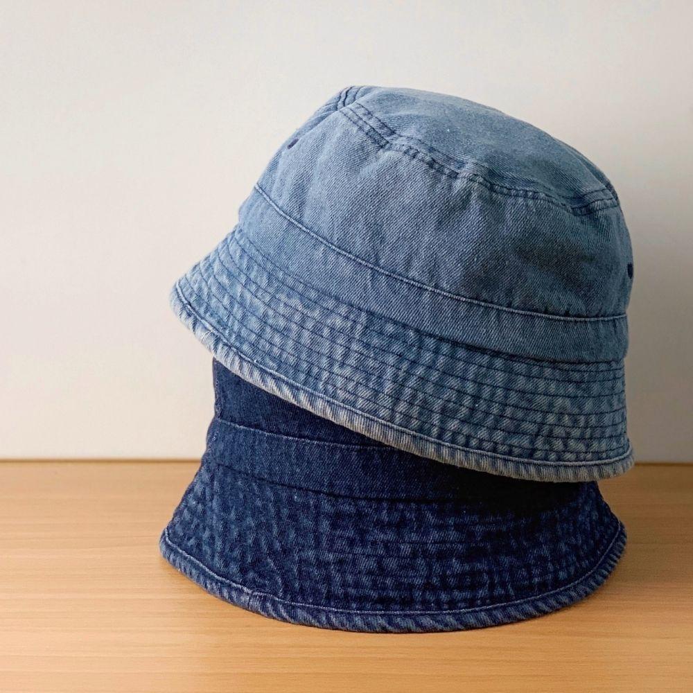 我適文創|MIFFY米飛兔 夏日防曬 牛仔漁夫帽 深藍/淺藍