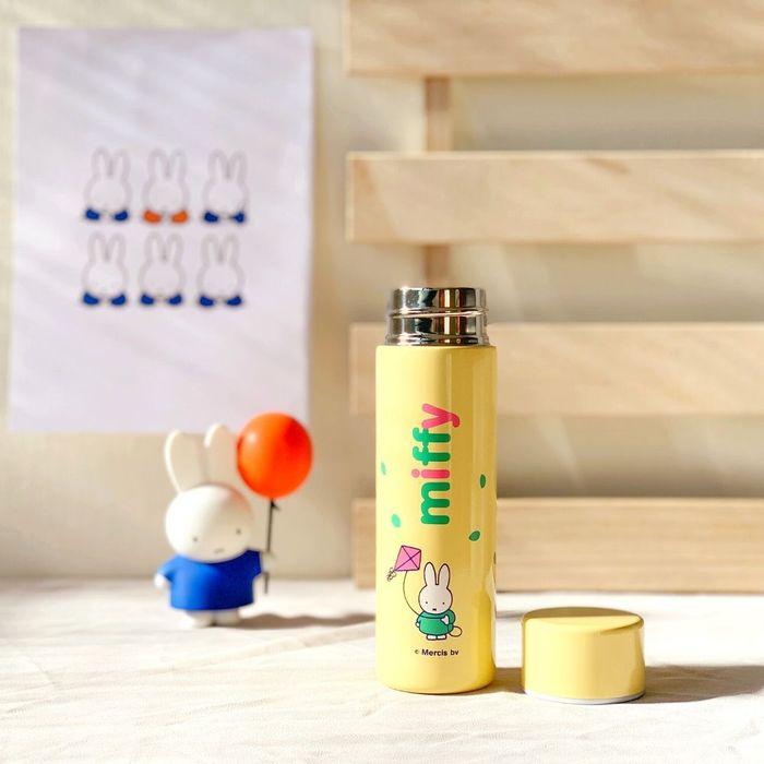 我適文創|MIFFY米飛兔 馬卡龍口紅瓶 隨身保溫瓶 -黃/粉