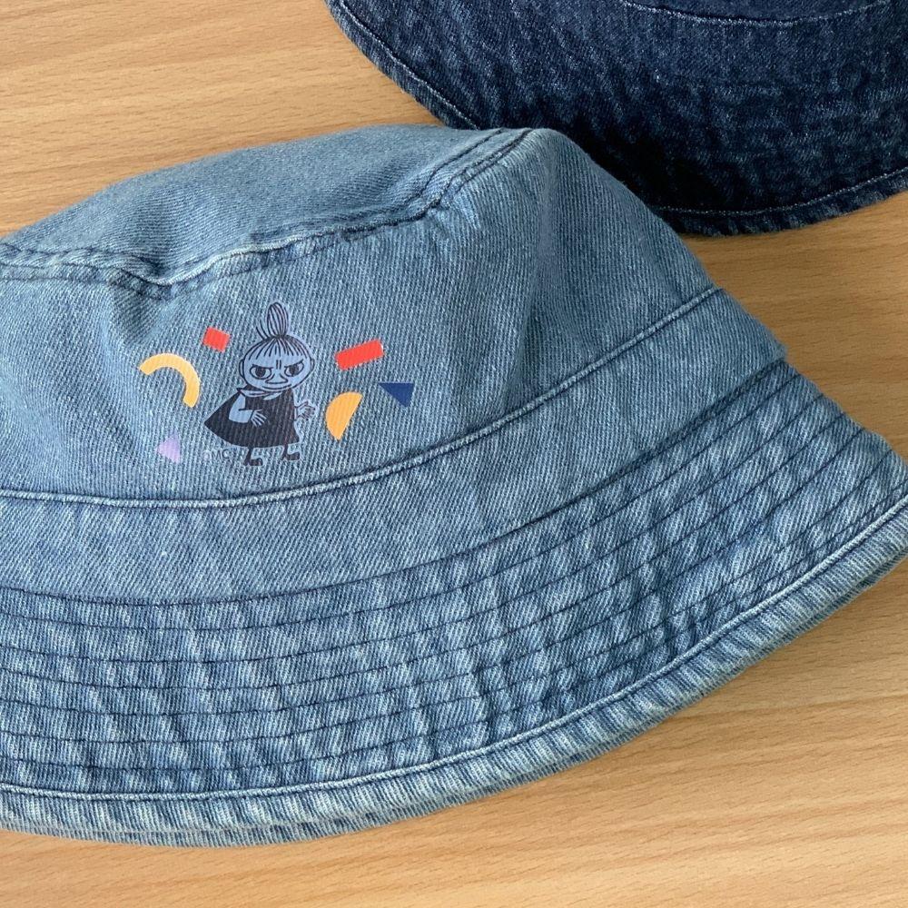 我適文創 MOOMIN嚕嚕米 夏日防曬 牛仔漁夫帽 深藍/淺藍