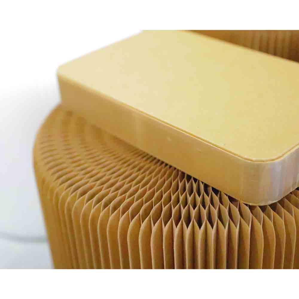 洛陽紙櫃|Honey Comb Stool Virgin (牛皮紙矮凳)