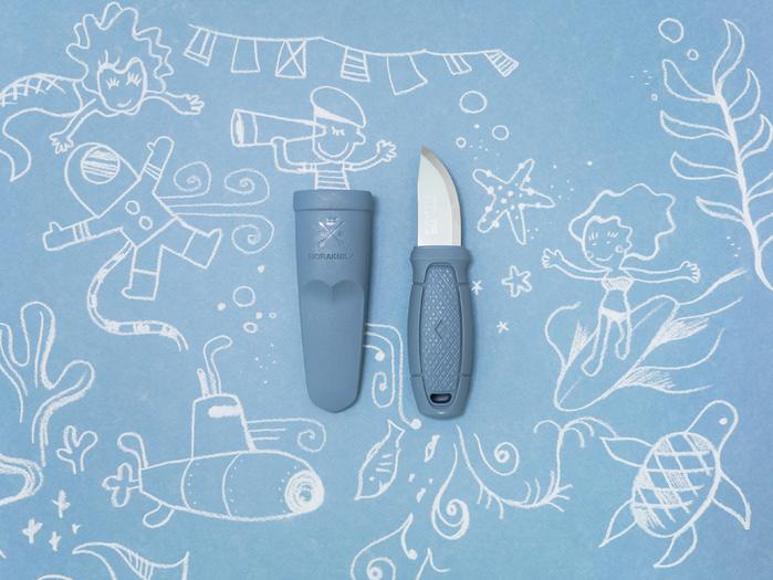 MORAKNIV|Eldris LightDuty 不鏽鋼短直刀(莫蘭迪海洋藍)