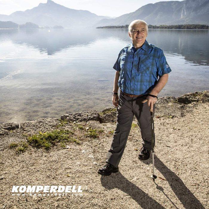 Komperdell|Walker Antishock Light 鋁合金T型把避震登山杖