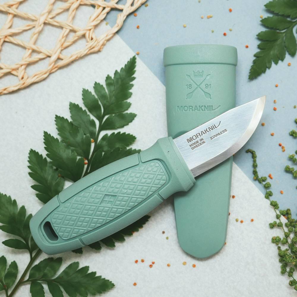 MORAKNIV|Eldris LightDuty 不鏽鋼短直刀(莫蘭迪薄荷綠)
