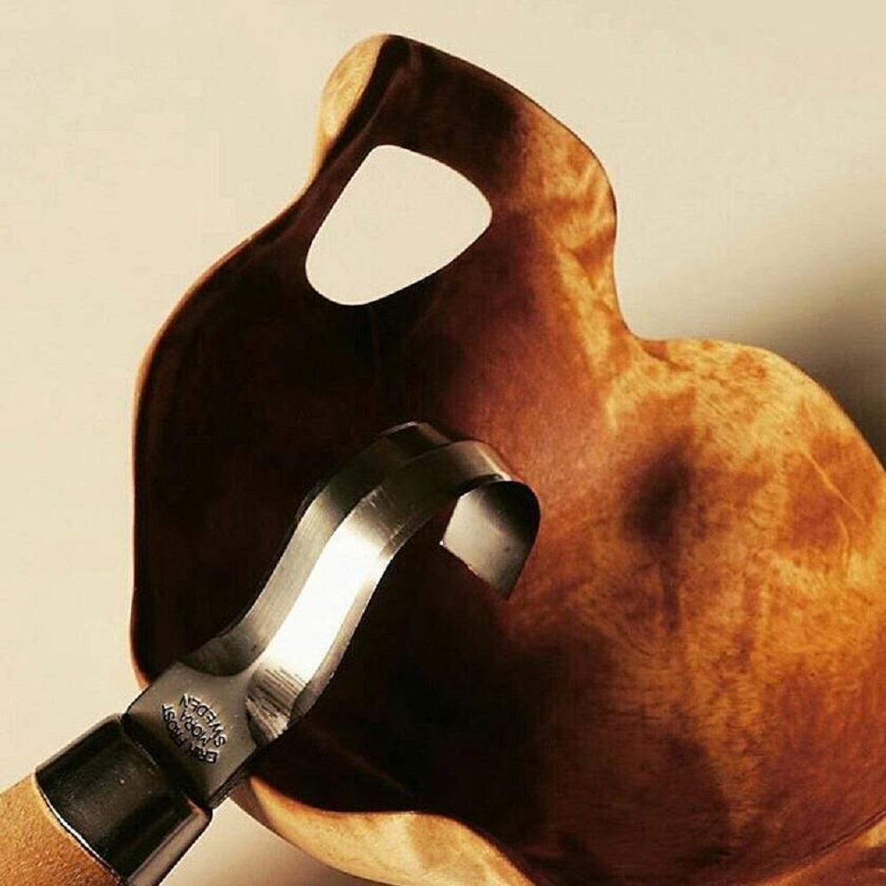 MORAKNIV Wood Carving Hook 162S 不鏽鋼彎勾木雕刀(原木色)