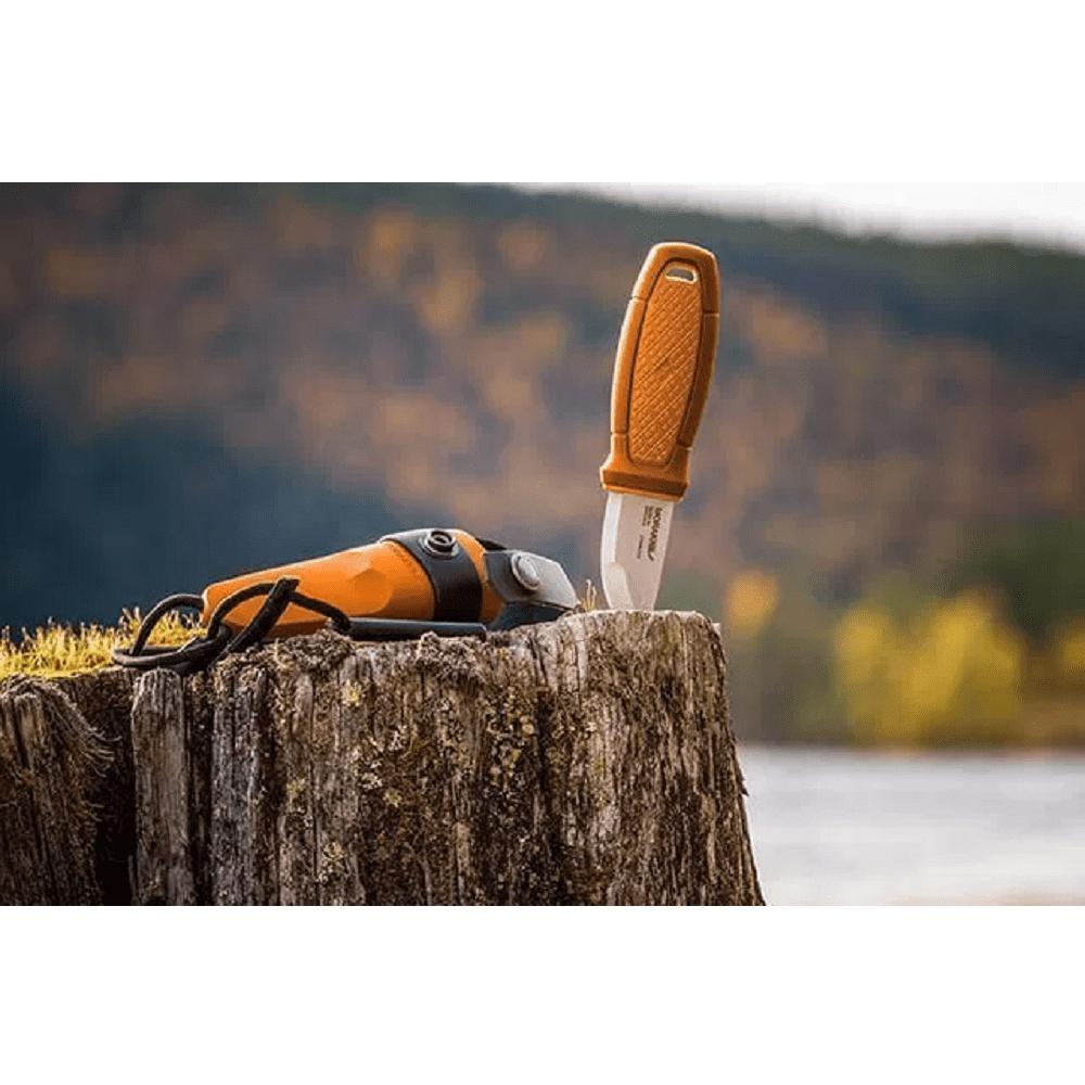 MORAKNIV|Eldris Neck Knife Kit 不鏽鋼短直刀組 附掛繩、打火石(綠)
