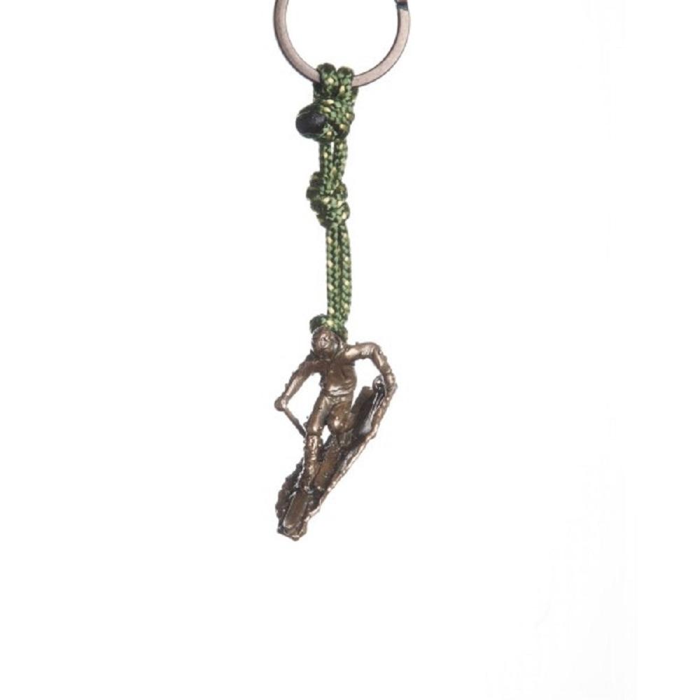 SAC|Telemarker #25 青銅鑰匙圈掛飾 滑雪者