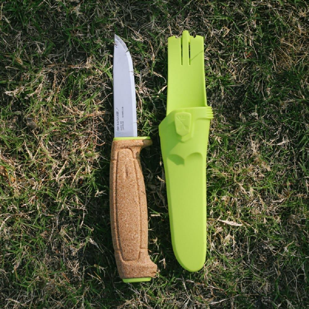 MORAKNIV|不鏽鋼浮刀 (軟木握柄) Floating Knife(綠)