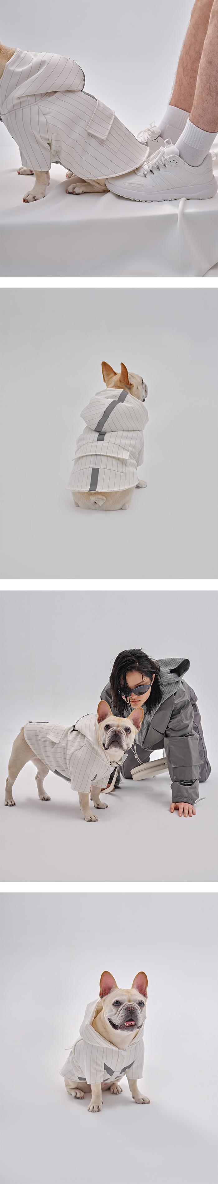 (複製)PEHOM|三色絨布條纹缎面狗狗運動衣