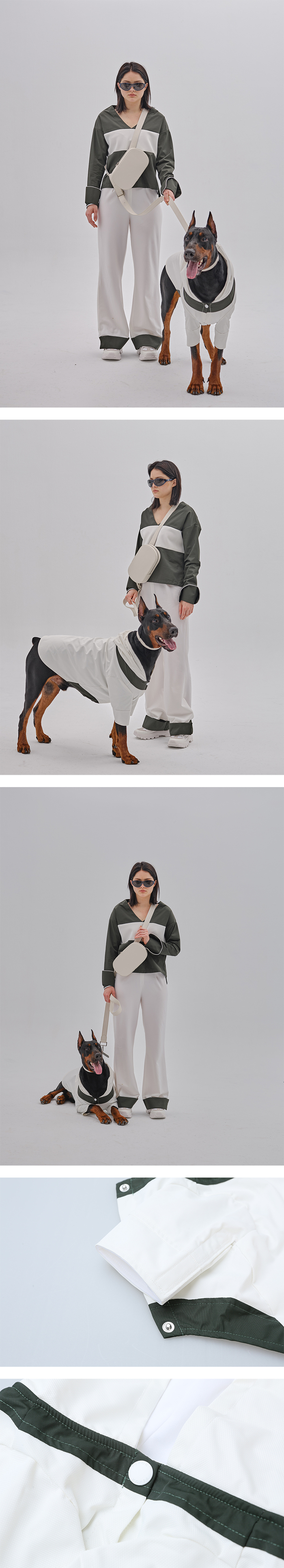 (複製)PEHOM|粉红拼口袋狗狗運動帽衣
