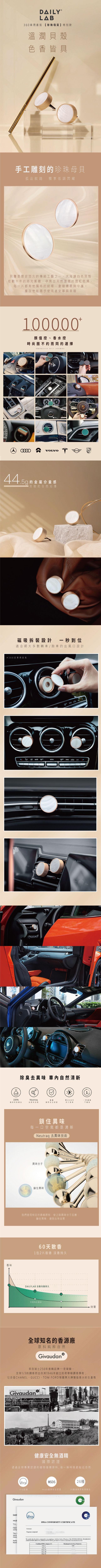 DAILY LAB|360° 限量貝殼款 車用香氛