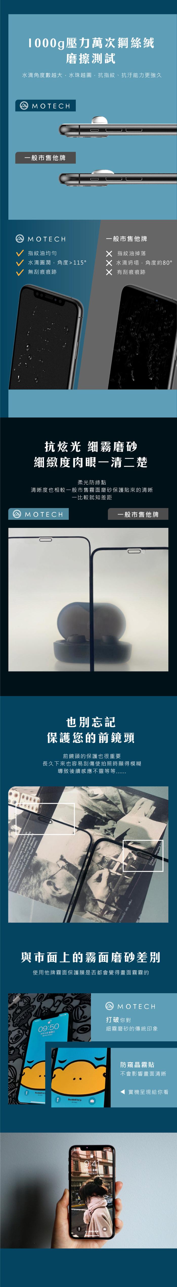 MOTECH 【獨家專利】 防窺晶霧貼 超細高透 防窺專用 iPhone 保護貼