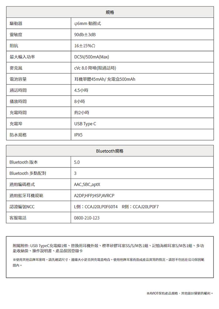 (複製)AVIOT TE-D01d mk2 真無線藍牙耳機-黑