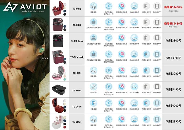 AVIOT|TE-D01d 真無線藍牙耳機-紅