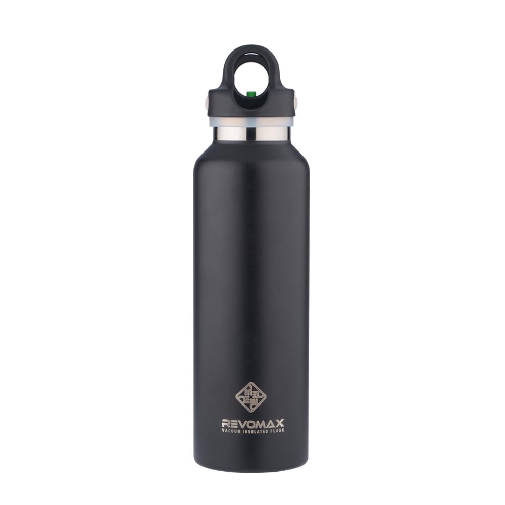 REVOMAX|316不鏽鋼保溫保冰秒開瓶592ML(時尚黑)