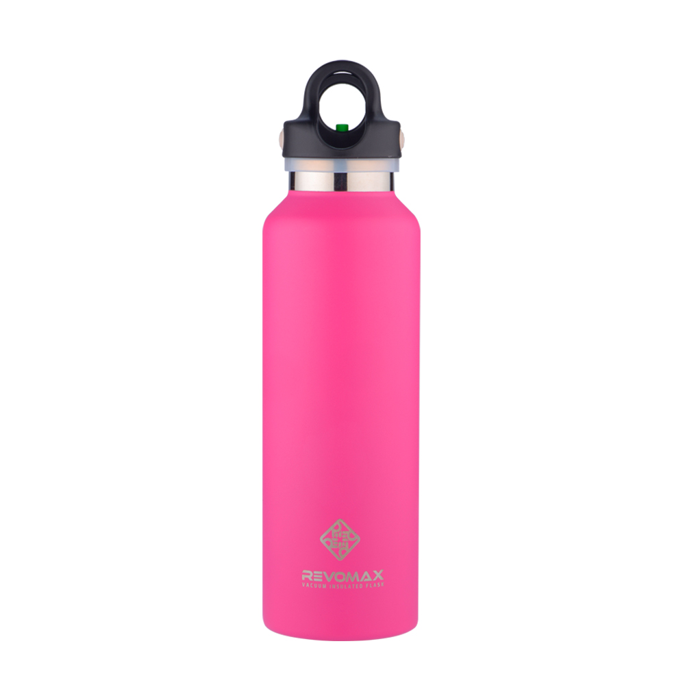 REVOMAX|316不鏽鋼保溫保冰秒開瓶592ML(亮麗桃)