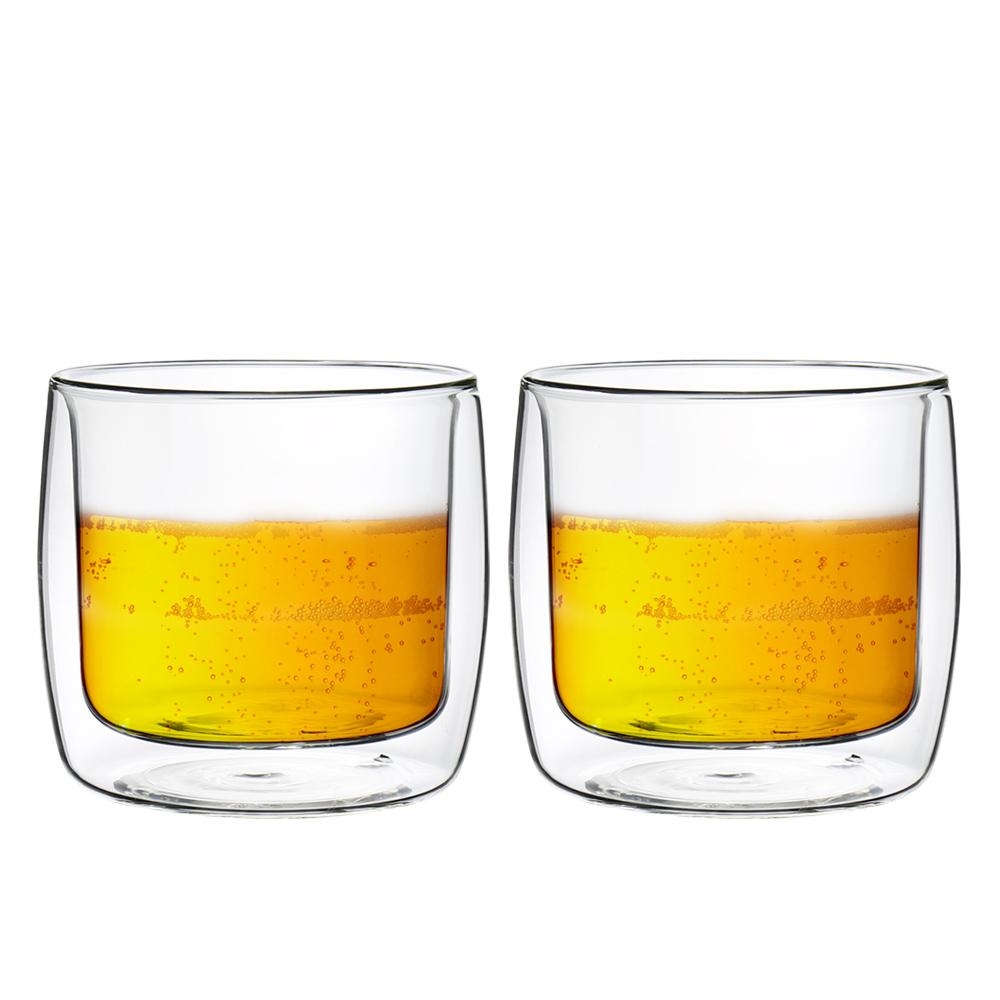FUSHIMA 富島 英倫系列雙層耐熱玻璃杯330ML*2入