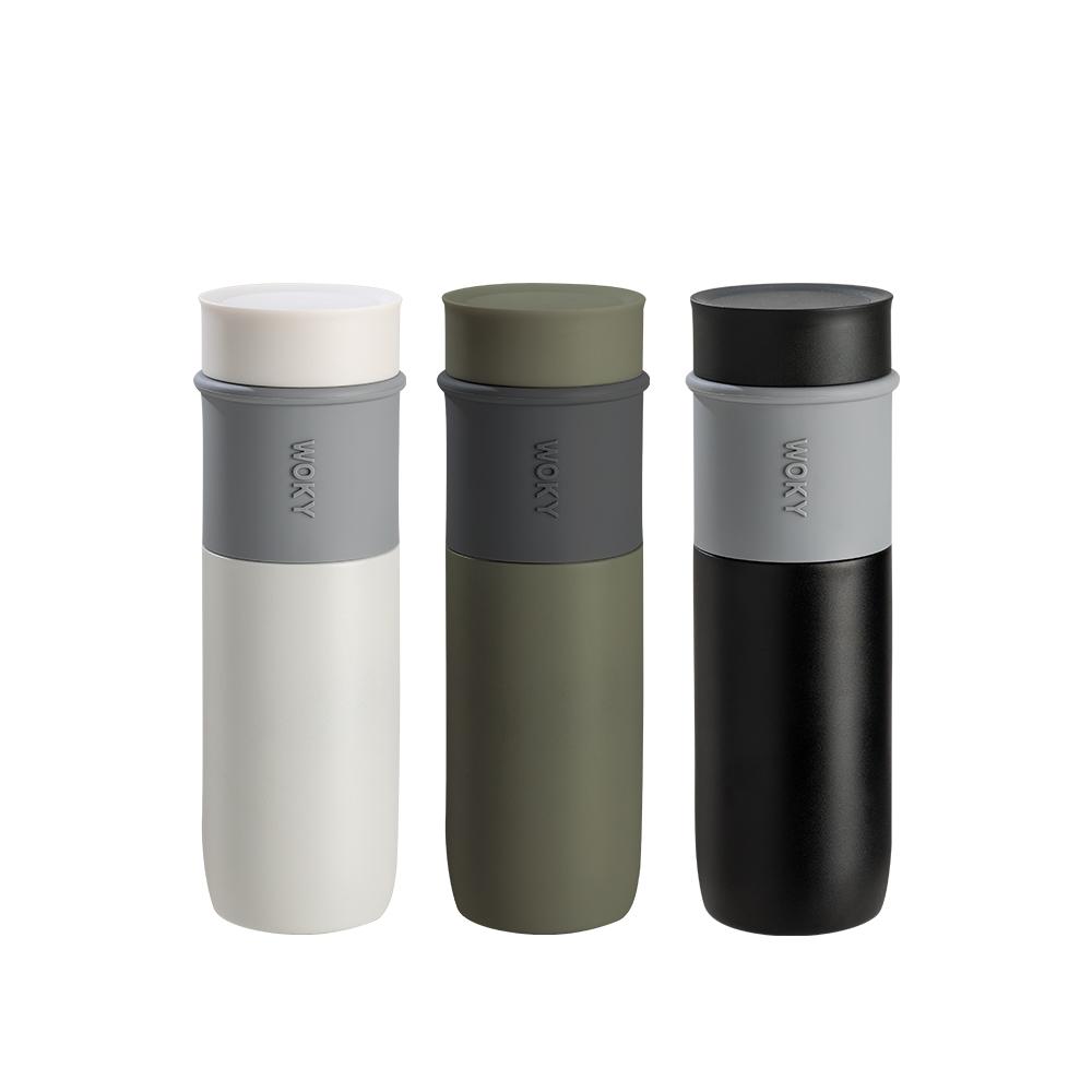 WOKY 沃廚|JIN真瓷系列-極簡輕量陶瓷保溫瓶580ML
