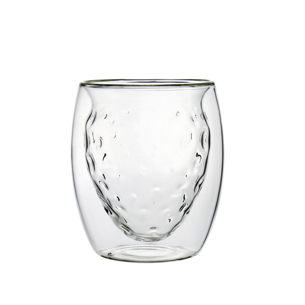 FUSHIMA 富島 2018年度限定-雙層耐熱玻璃杯草莓甜芯250ML