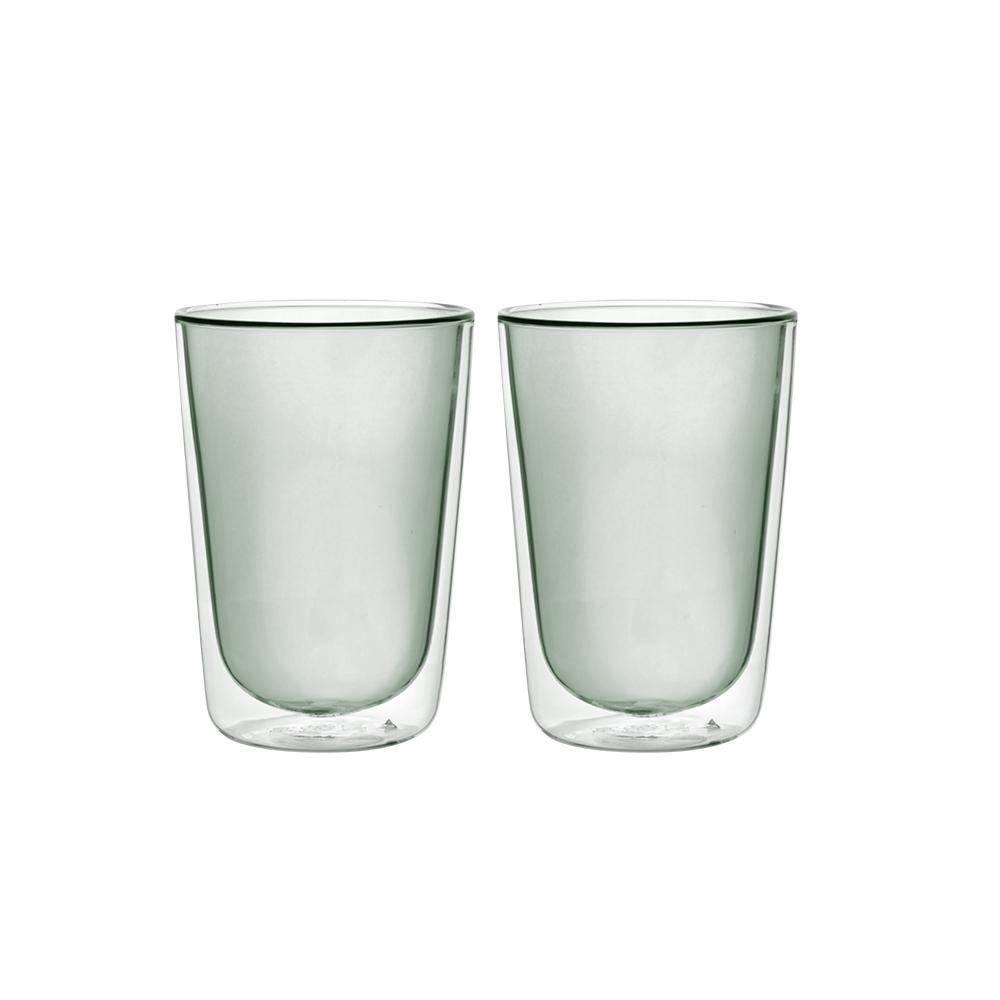 FUSHIMA 富島|Addicted系列-雙層玻璃杯380ML-時尚貴族黑*2入