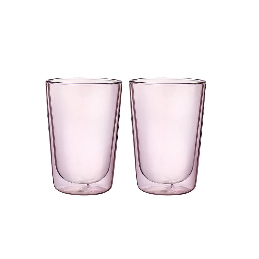FUSHIMA 富島|Addicted系列雙層玻璃杯380ML-芭蕾女伶粉*2入