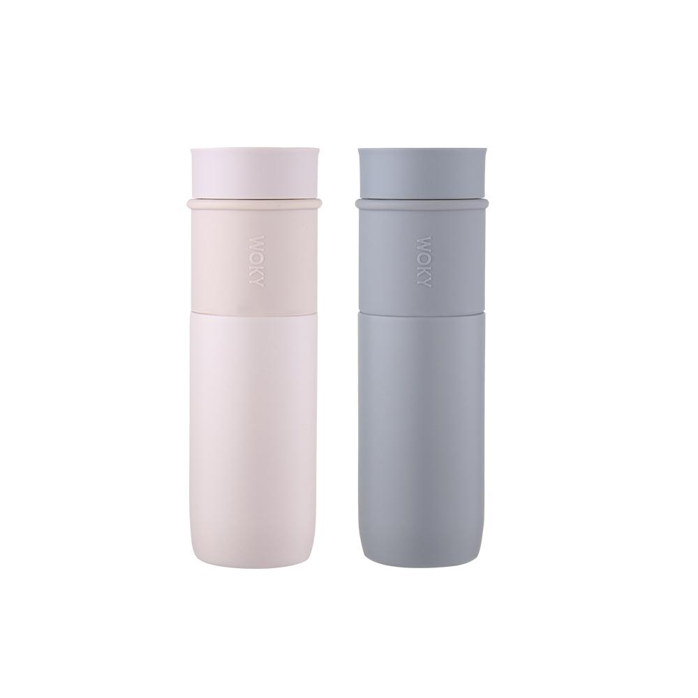 WOKY 沃廚|真瓷系列-時尚簡約陶瓷保溫瓶450ML