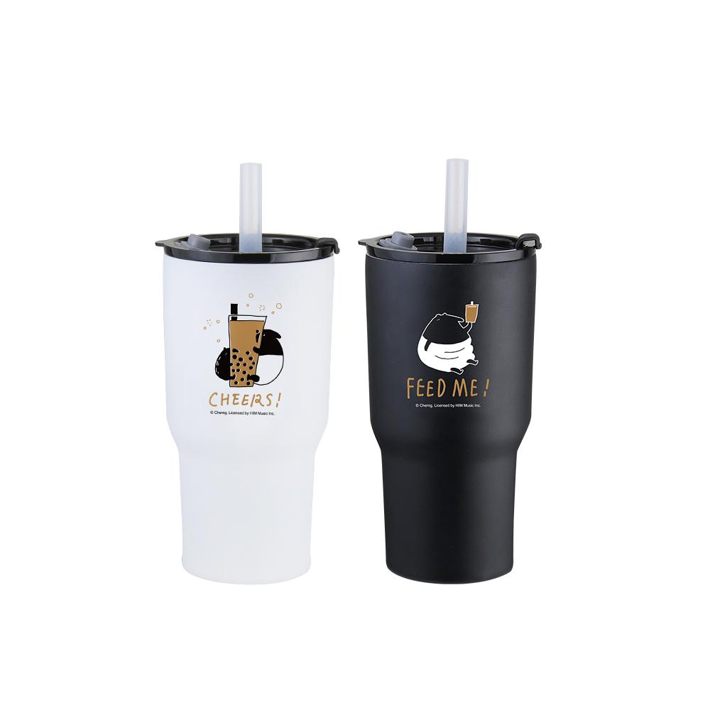 WOKY 沃廚|馬來貘聯名款暢飲隨行激凍杯900ML(2色可選)