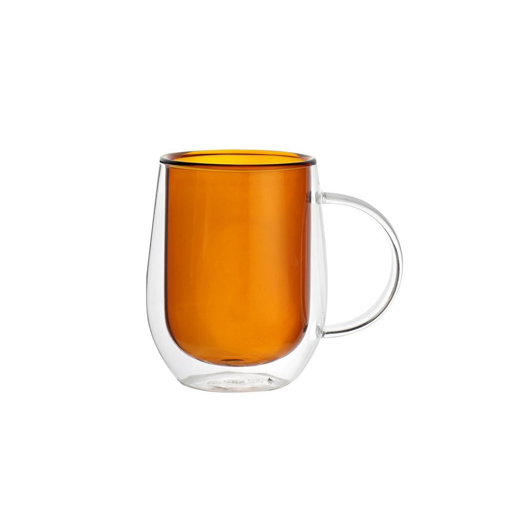 FUSHIMA 富島|Addicted系列-雙層玻璃杯310ML-迷戀暖陽咖