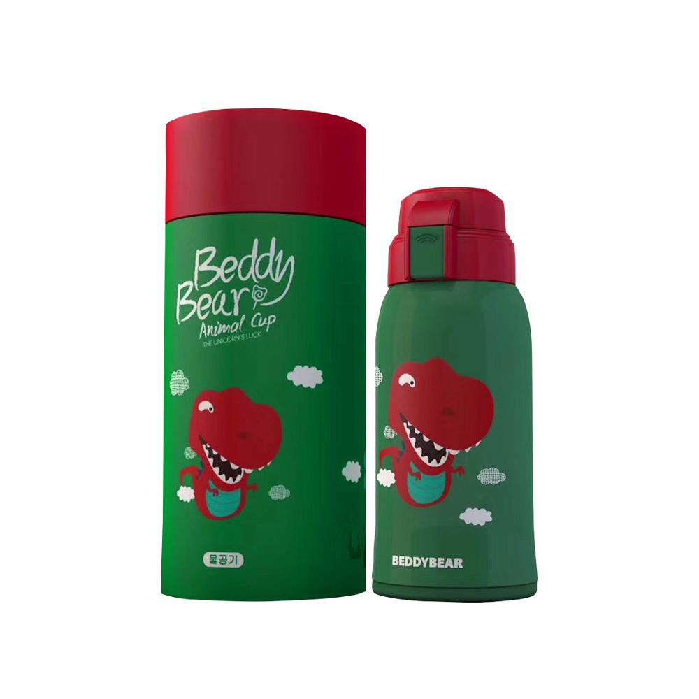 BEDDY BEAR 萌寶兒童水壺600ML附3D造型杯套-小暴龍