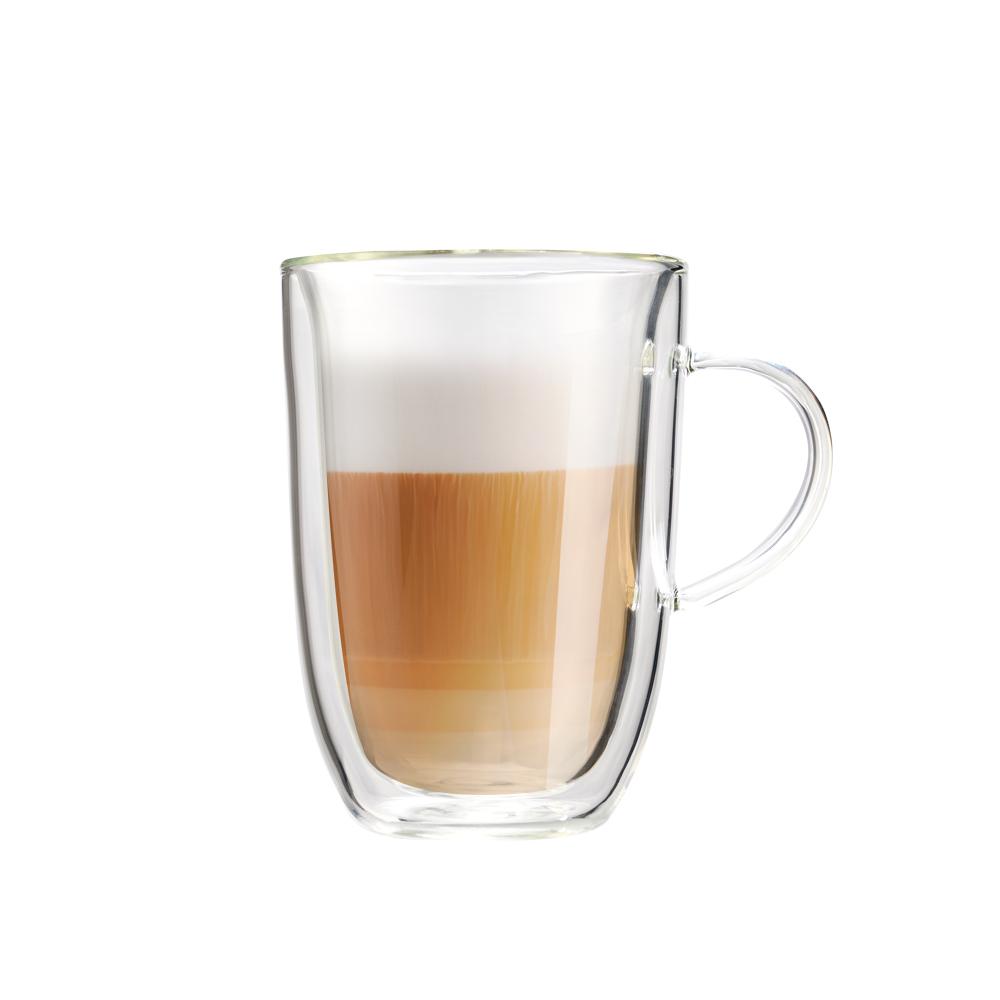 FUSHIMA 富島|極厚系列雙層耐熱玻璃杯350ML(把手)