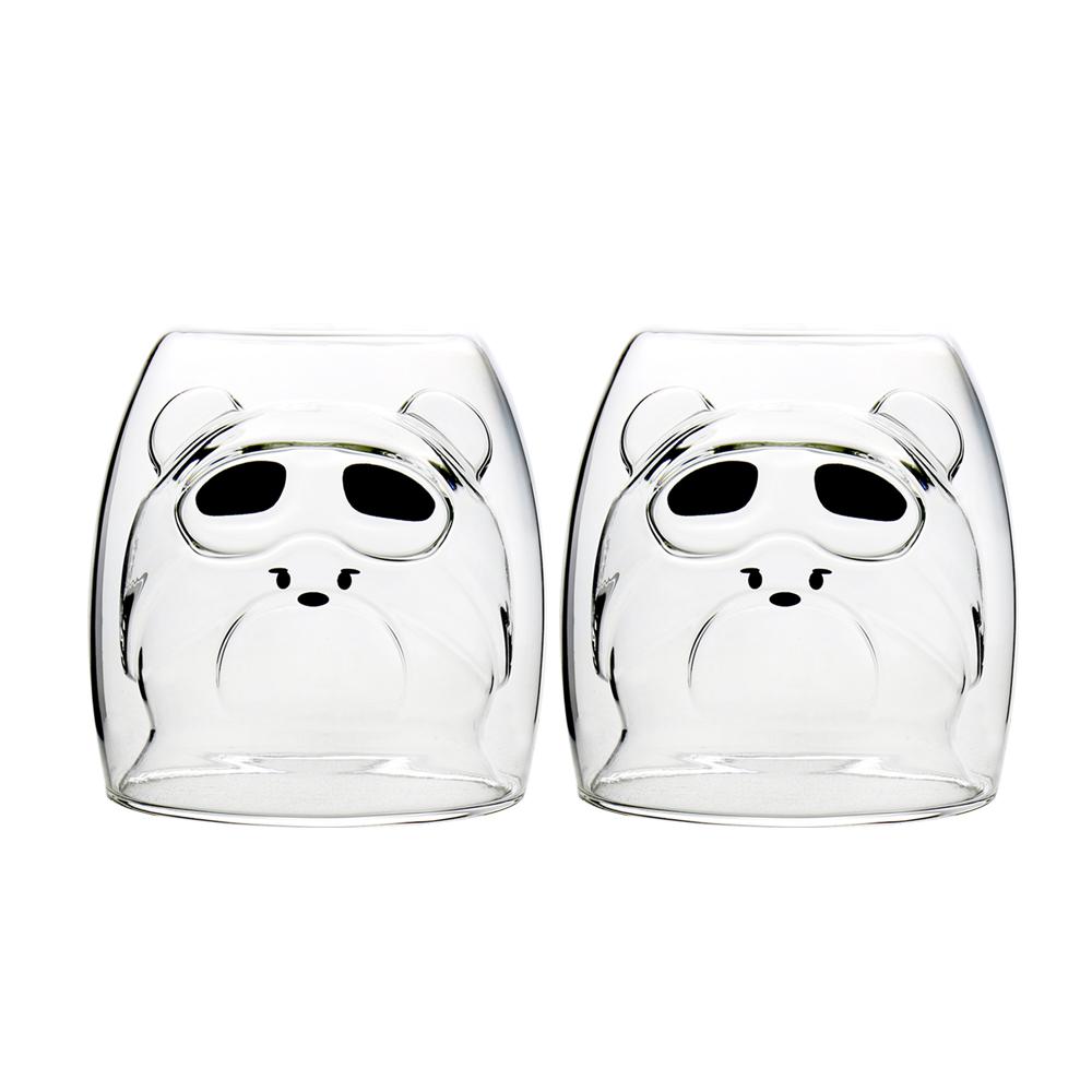 FUSHIMA 富島|2018年度限定-雙層耐熱玻璃杯Cutie熊250ML*2入