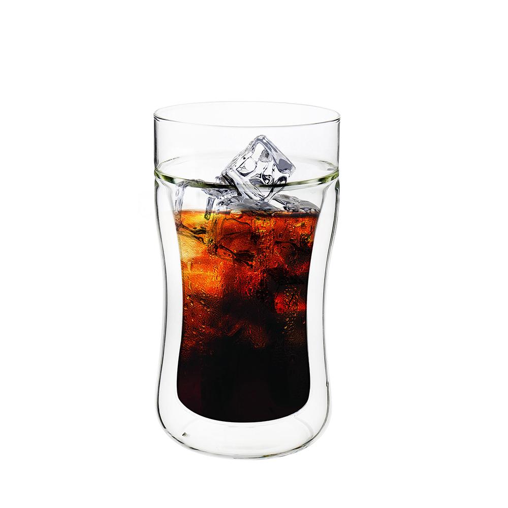 FUSHIMA 富島|公爵系列雙層耐熱曲線玻璃杯290ML